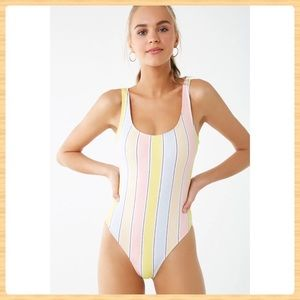 New Forever21 Multicolor One Piece Swimsuit